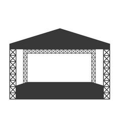 Outdoor rock concert flat icon or logo template vector