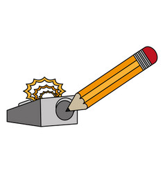 Pencil and eraser design vector