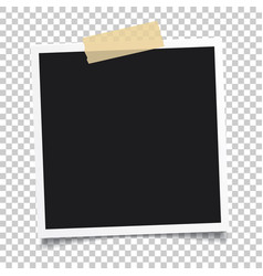 photo frameset of realistic paper instant vector image vector image