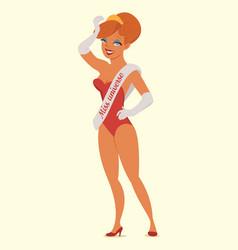 queen of beauty miss universe vector image vector image