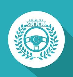 Racing School design vector image