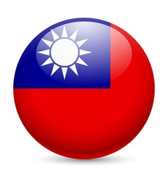 Round glossy icon of taiwan vector image vector image