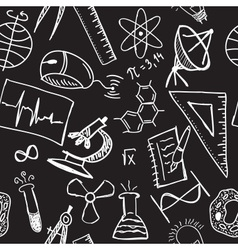 Science drawings on seamless pattern vector
