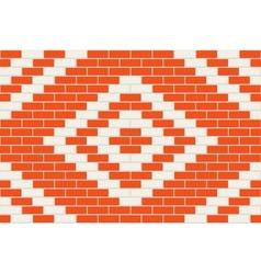 Seamless brick background vector