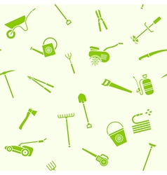 Seamless garden tools vector
