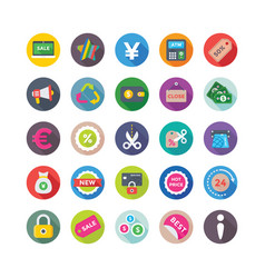Shopping and commerce icons 8 vector