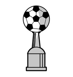 Soccer winner cup prize - shadow vector