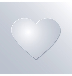 Valentines day paper heart on white background vector
