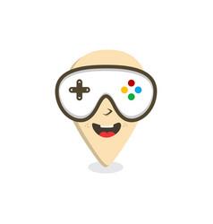 video game console joystick gps locator pin vector image
