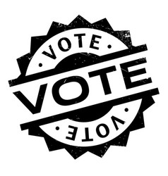 vote rubber stamp vector image