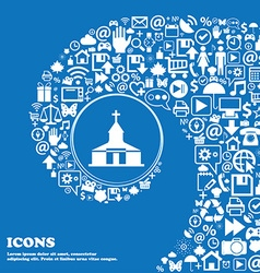 Church icon nice set of beautiful icons twisted vector