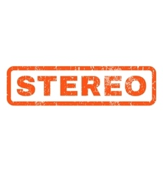 Stereo rubber stamp vector