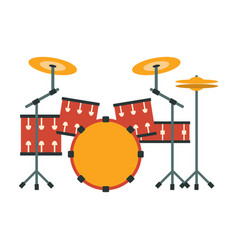 Drum kit part of musical instruments set of vector