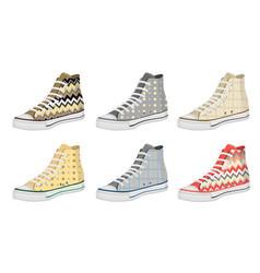 mens shoes keds pattern vector image