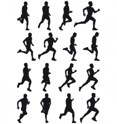 running girl vector image