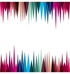 Abstract triangular border design stock vector
