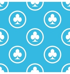 Clubs sign blue pattern vector
