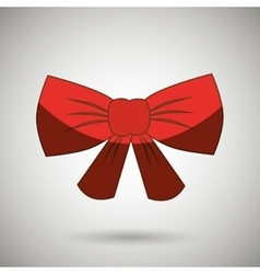 Decorative bow design vector