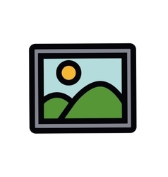 Picture isolated icon design vector