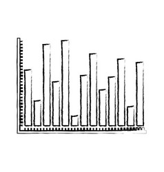 blurred silhouette of statistical graphs contour vector image vector image