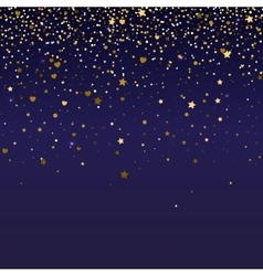 Brilliant golden and sparkling dust particles vector
