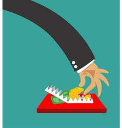 Business trap vector