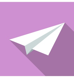 Colorful paper plane icon in modern flat style vector image
