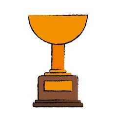 Drawing trophy winner award american football vector