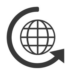 Earth and arrow around icon vector