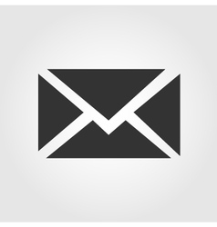 Email message icon flat design vector image vector image