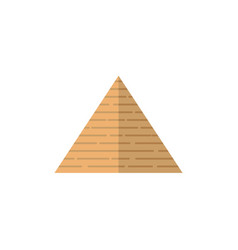 flat egypt pyramid icon vector image
