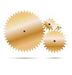 golden gear and cogwheel vector image vector image