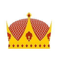 Golden Royal Crown with precious stones on a white vector image vector image