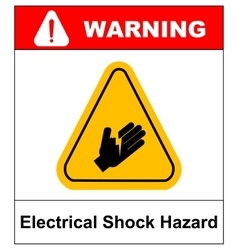 High voltage sign or electrical safety sign danger vector