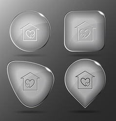 Orphanage Glass buttons vector image
