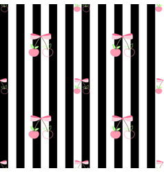 pattern pink cherry sweet and cool vector image vector image