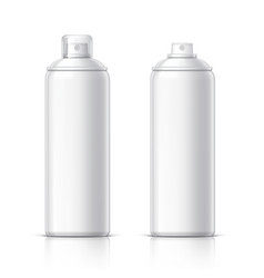 realistic cosmetics bottle can spray vector image vector image