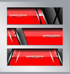 red banner template modern design vector image