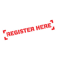 Register here rubber stamp vector