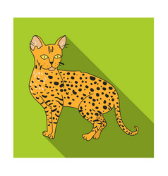 savannah icon in flat style isolated on white vector image vector image