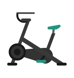 Stationary bicycle machine gym sport vector