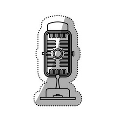 vintage radio microphone vector image