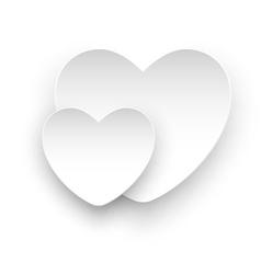 white heart white vector image vector image