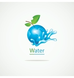 Planet Earth and clean water vector image