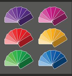 Set of six color palette vector