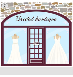 Bridal boutique wedding shop vector