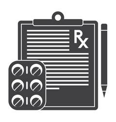 Medical prescription icon vector
