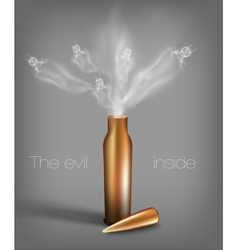 Bullet with demons vector