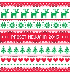 Prosit neujahr 2015 - happy new year in german pa vector