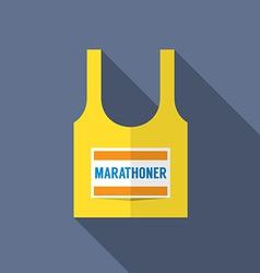 Singlet Of Marathon Runner vector image